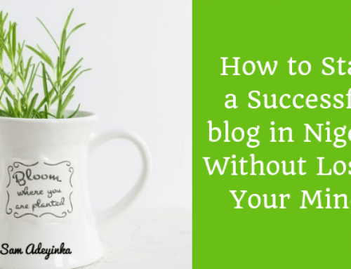 How to Start a Successful Blog in Nigeria Without Losing Your Mind!